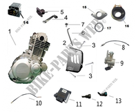 MOTOR PARTES para Mash TWO FIFTY EURO4 250 2018