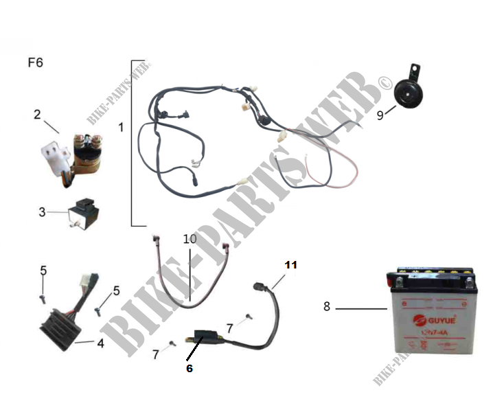 ELECTRICA PARTES para Mash TWO FIFTY EURO4 250 2018